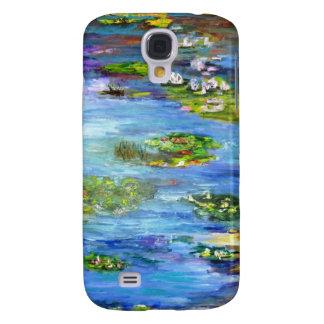 Caso de Iphone del lirio de agua Funda Para Galaxy S4