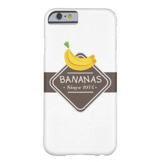 Caso de Iphone del logotipo de los PLÁTANOS Funda De iPhone 6 Barely There
