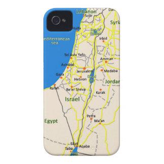 Caso de Iphone del mapa de Israel Case-Mate iPhone 4 Cárcasa