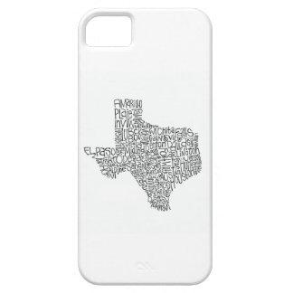 Caso de IPhone del mapa de Tejas iPhone 5 Carcasas