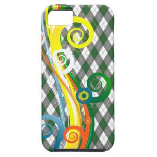 Caso de IPhone del multicolor de las volutas de Funda Para iPhone SE/5/5s