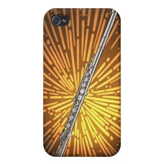 Caso de Iphone del músico de la flauta o del flaut iPhone 4 Coberturas
