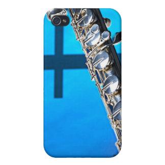 Caso de Iphone del músico de la flauta o del flaut iPhone 4 Protector