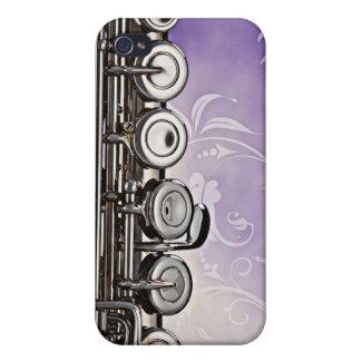 Caso de Iphone del músico de la flauta o del flaut iPhone 4 Protectores