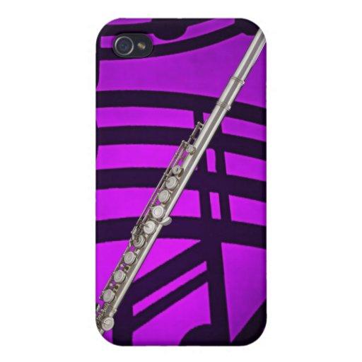 Caso de Iphone del músico de la flauta o del flaut iPhone 4/4S Carcasas