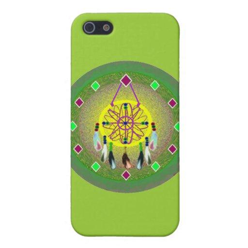 Caso de Iphone del nativo americano iPhone 5 Protectores