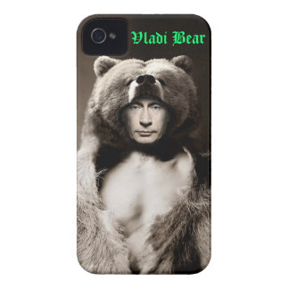 Caso de IPhone del oso de Vladimir Putin Vladi Funda Para iPhone 4 De Case-Mate