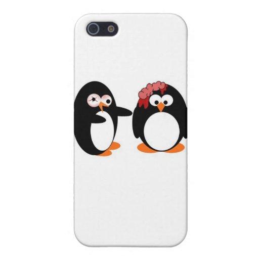 Caso de Iphone del pingüino del zombi iPhone 5 Carcasas