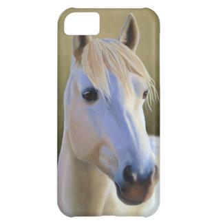 Caso de IPhone del retrato del caballo blanco