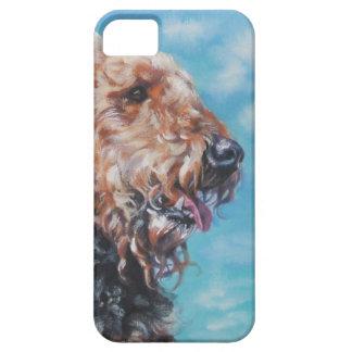 Caso de Iphone del retrato del perro de Airedale T iPhone 5 Case-Mate Carcasa