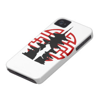 Caso de IPhone del samurai iPhone 4 Case-Mate Cárcasa