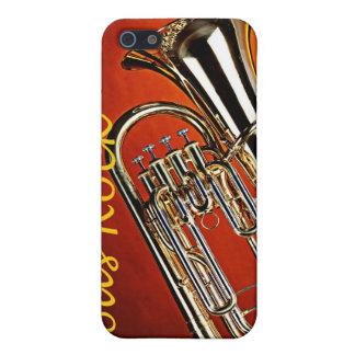 Caso de Iphone del Sousaphone de la tuba para el iPhone 5 Fundas
