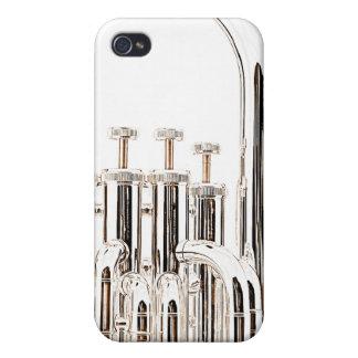 Caso de Iphone del Sousaphone de la tuba para el m iPhone 4/4S Fundas