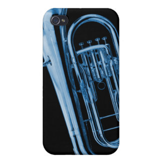 Caso de Iphone del Sousaphone de la tuba para el m iPhone 4 Funda