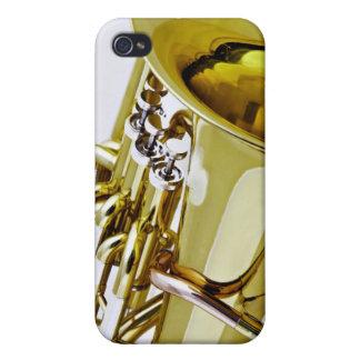 Caso de Iphone del Sousaphone de la tuba para el m iPhone 4 Protectores