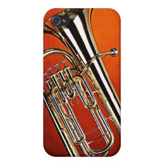 Caso de Iphone del Sousaphone de la tuba para el m iPhone 4 Fundas