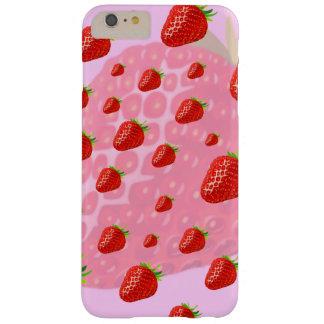 Caso de Iphone, frutas, fresas Funda De iPhone 6 Plus Barely There