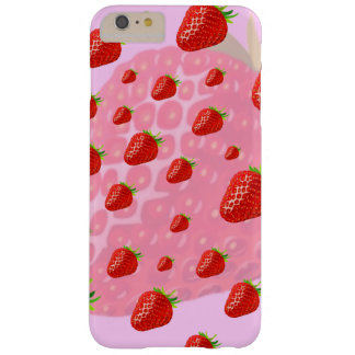 Caso de Iphone, frutas, fresas Funda Barely There iPhone 6 Plus