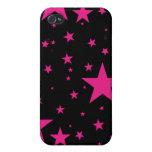 Caso de Iphone - rosa y negro iPhone 4 Coberturas