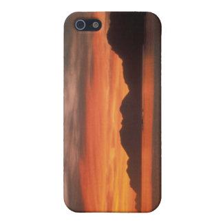 Caso de IPhone salida del sol de Adak de la playa iPhone 5 Carcasa