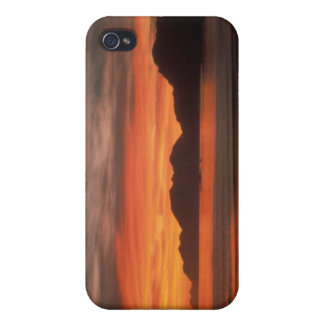 Caso de IPhone salida del sol de Adak de la playa iPhone 4/4S Carcasa