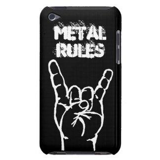 Caso de iTouch 4 de las reglas del metal - negro Funda Case-Mate Para iPod