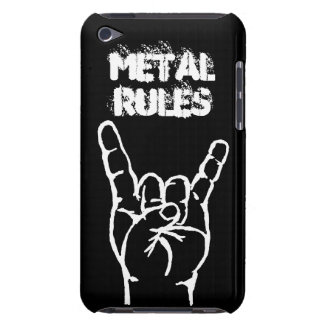 Caso de iTouch 4 de las reglas del metal - negro iPod Case-Mate Carcasas