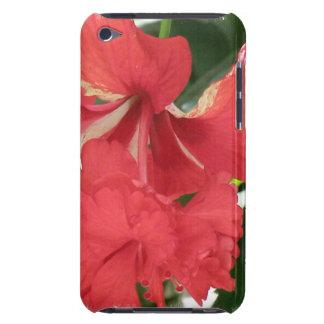 Caso de iTouch del cuidado del hibisco Barely There iPod Cárcasa