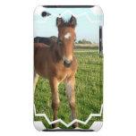 Caso de iTouch del potro del caballo Barely There iPod Fundas