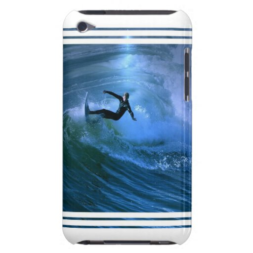 Caso de iTouch del rizo que practica surf Barely There iPod Coberturas