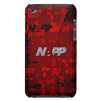 "caso de iTouch por NAPP - ""artsy rojo "" Barely There iPod Funda"