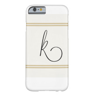 Caso de K Monogramed Iphone Funda Para iPhone 6 Barely There