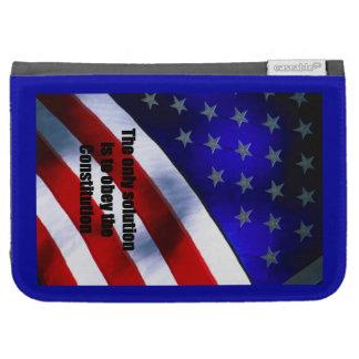 Caso de /Kindle del caso con la bandera americana