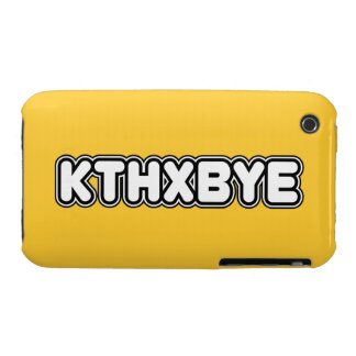 Caso de KTHXBYE Case-Mate iPhone 3 Funda