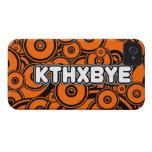 Caso de KTHXBYE Case-Mate iPhone 4 Protectores