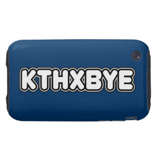 Caso de KTHXBYE iPhone 3 Tough Coberturas
