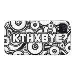 Caso de KTHXBYE iPhone 4 Fundas