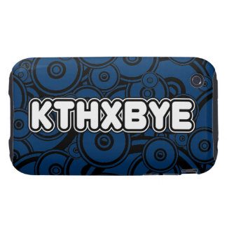 Caso de KTHXBYE Tough iPhone 3 Cárcasa