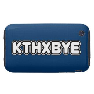 Caso de KTHXBYE Tough iPhone 3 Protectores
