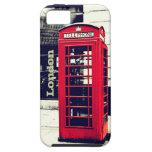 Caso de la cabina de teléfono de Londres iPhone 5 Case-Mate Carcasas