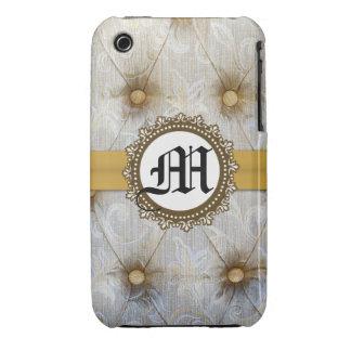 Caso de la célula del monograma IPHONE 3 de la iPhone 3 Case-Mate Carcasas
