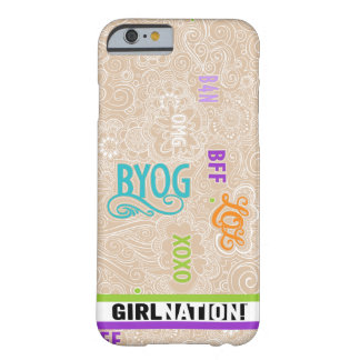 Caso de la charla iPhone6 del Doodle de color Funda Barely There iPhone 6