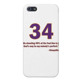 Caso de la cita de Shaquille O'Neal iPhone 5 Protector