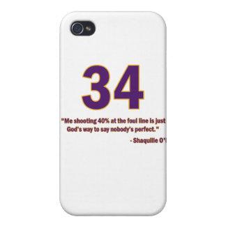 Caso de la cita de Shaquille O'Neal iPhone 4 Cárcasas