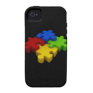 Caso de la conciencia iPhone4 del autismo multicol iPhone 4 Fundas