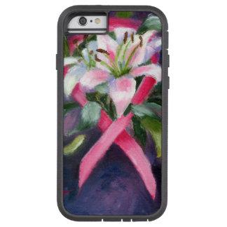 Caso de la conciencia IPhone6 del cáncer de pecho Funda De iPhone 6 Tough Xtreme