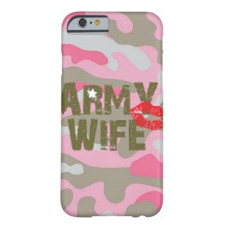 CASO de la esposa IPHONE 6 del ejército Funda Barely There iPhone 6