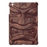Caso de la estatua de Tiki mini del tótem del iPad