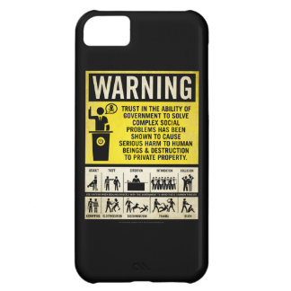 Caso de la etiqueta de advertencia del gobierno funda para iPhone 5C