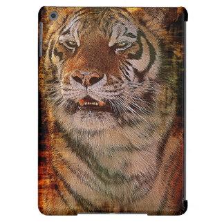 Caso de la fauna del gato grande del retrato del t funda para iPad air